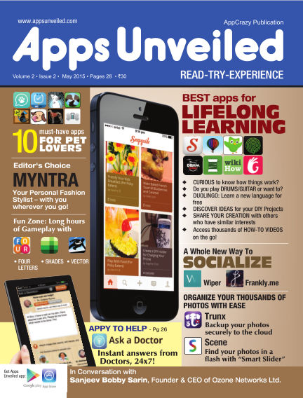 Apps Unveiled May 18, 2015 00:00