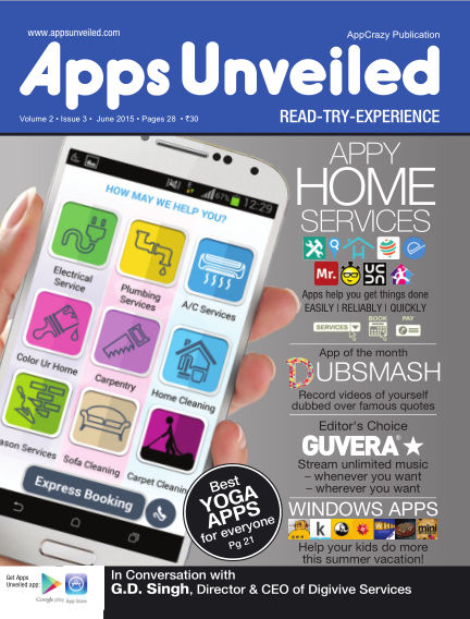 Apps Unveiled June 11, 2015 00:00