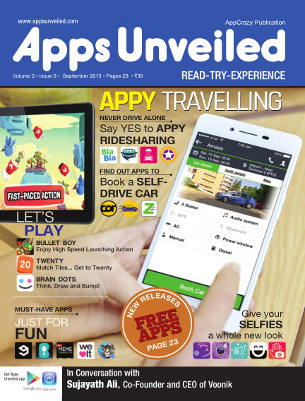Apps Unveiled September 14, 2015 00:00