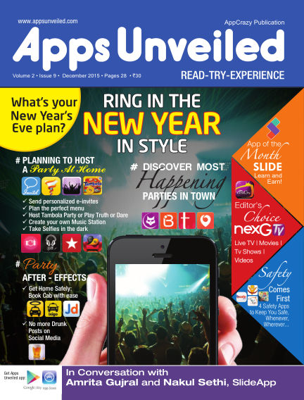 Apps Unveiled December 12, 2015 00:00