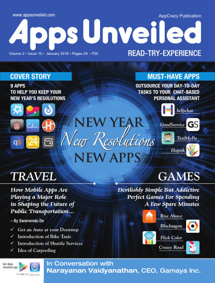 Apps Unveiled January 11, 2016 00:00