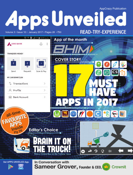 Apps Unveiled January 17, 2017 00:00