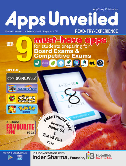 Apps Unveiled February 22, 2017 00:00
