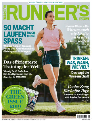 RUNNER'S WORLD - DE 08 2019