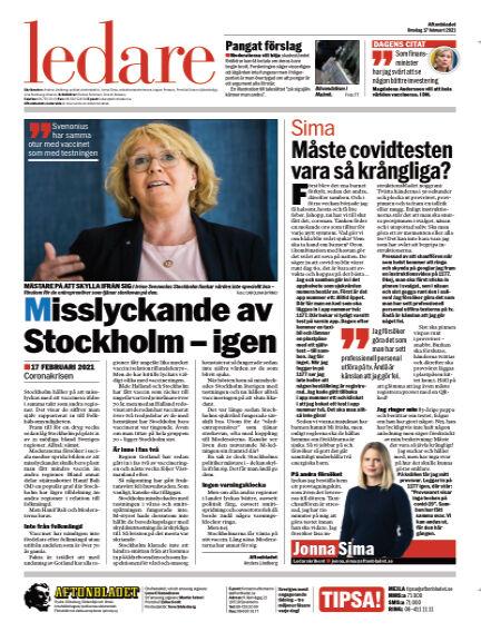 Aftonbladet February 17, 2021 00:00