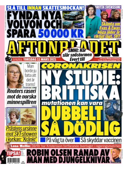 Aftonbladet March 11, 2021 00:00