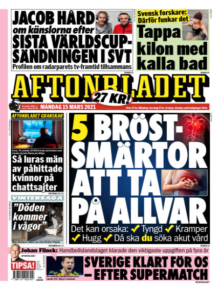 Aftonbladet March 15, 2021 00:00