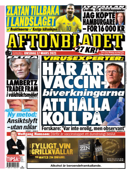Aftonbladet March 17, 2021 00:00
