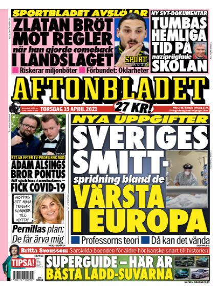 Aftonbladet April 15, 2021 00:00