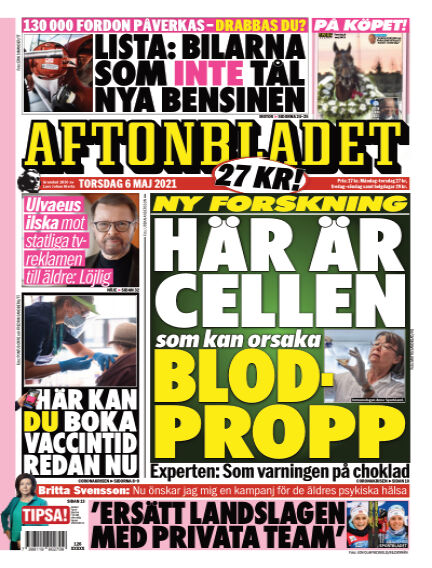 Aftonbladet May 06, 2021 00:00