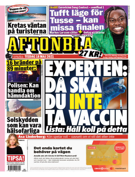 Aftonbladet May 18, 2021 00:00