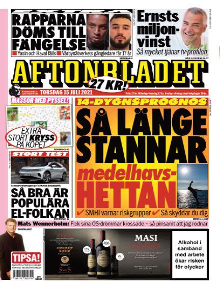 Aftonbladet July 15, 2021 00:00