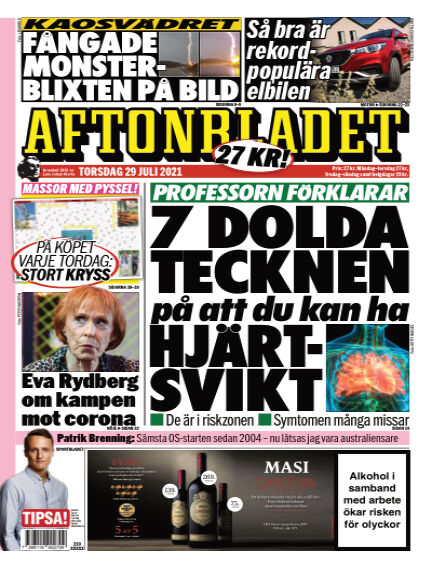 Aftonbladet July 29, 2021 00:00