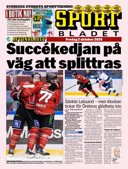 Sportbladet October 02, 2020 00:00