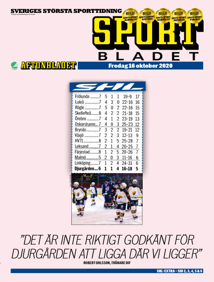 Sportbladet October 16, 2020 00:00