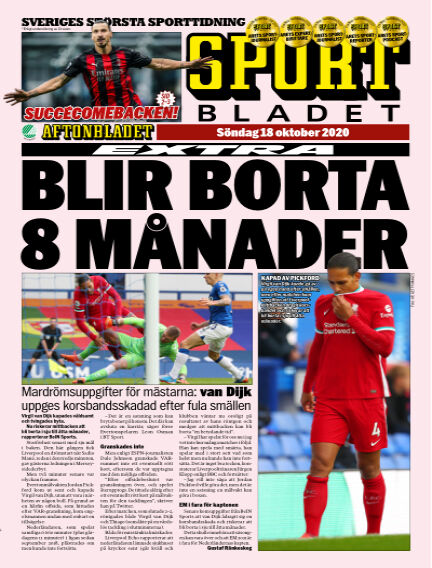 Sportbladet October 18, 2020 00:00