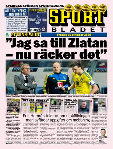 Sportbladet October 30, 2020 00:00