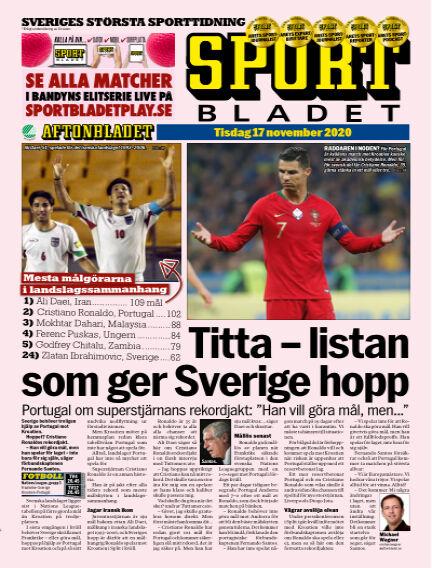 Sportbladet November 17, 2020 00:00