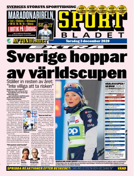 Sportbladet December 03, 2020 00:00
