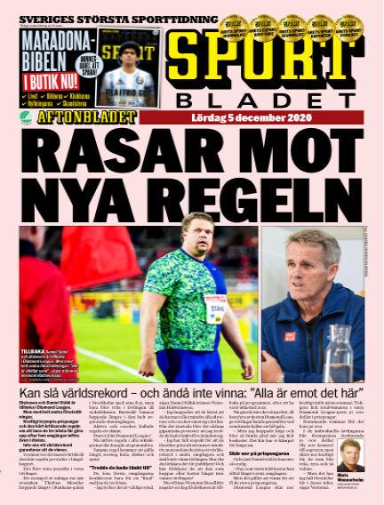 Sportbladet December 05, 2020 00:00
