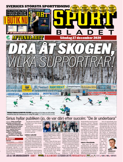 Sportbladet December 27, 2020 00:00