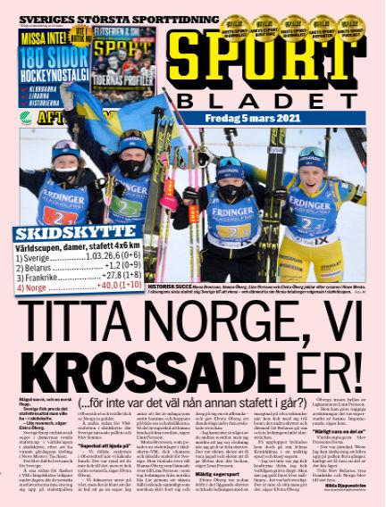 Sportbladet March 05, 2021 00:00