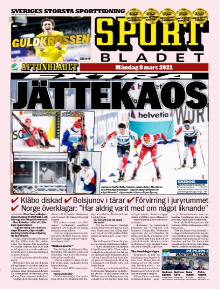 Sportbladet March 08, 2021 00:00