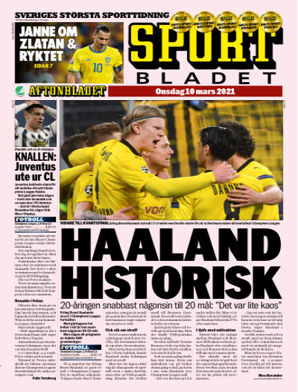 Sportbladet March 10, 2021 00:00