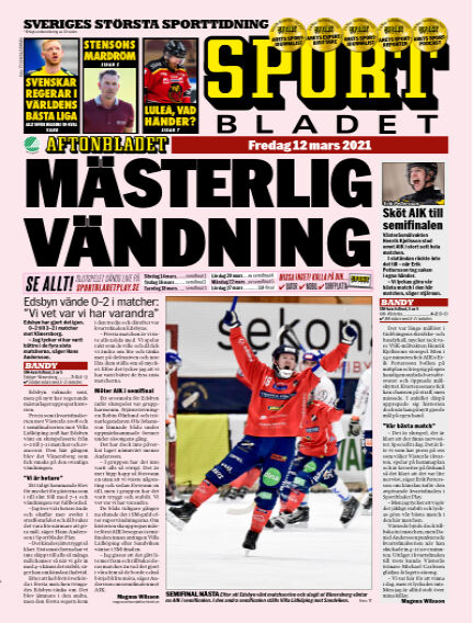 Sportbladet March 12, 2021 00:00
