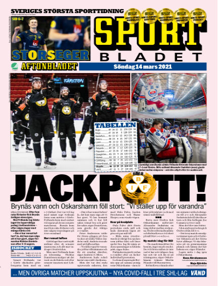 Sportbladet March 14, 2021 00:00