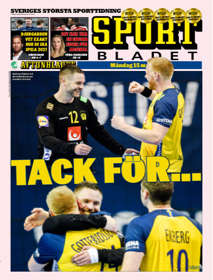 Sportbladet March 15, 2021 00:00