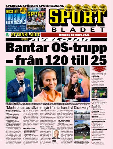 Sportbladet March 18, 2021 00:00