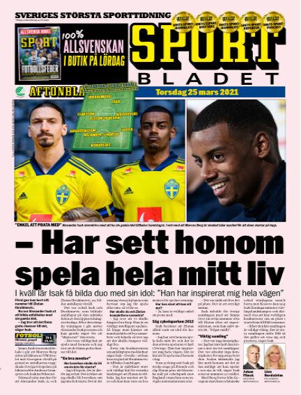 Sportbladet March 25, 2021 00:00