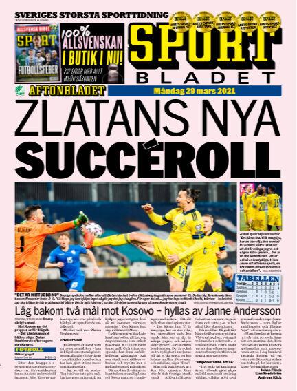 Sportbladet March 29, 2021 00:00