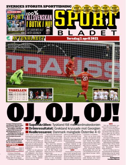 Sportbladet April 01, 2021 00:00