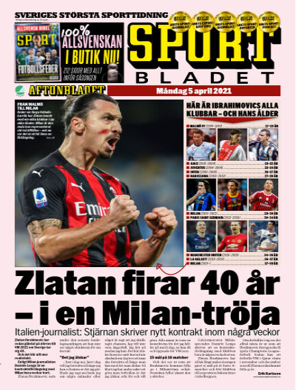 Sportbladet April 05, 2021 00:00