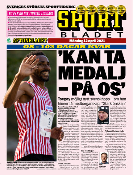 Sportbladet April 12, 2021 00:00
