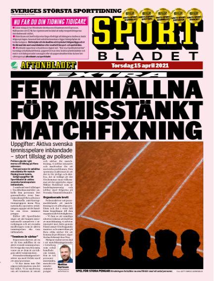 Sportbladet April 15, 2021 00:00