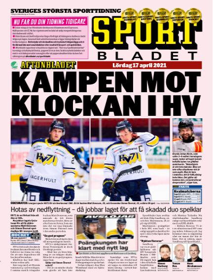 Sportbladet April 17, 2021 00:00