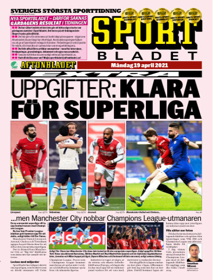 Sportbladet April 19, 2021 00:00