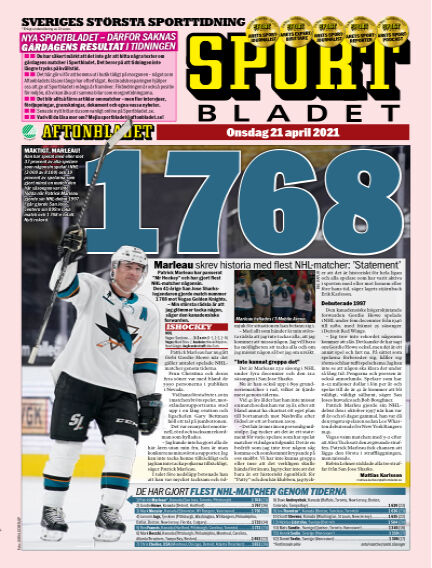 Sportbladet April 21, 2021 00:00