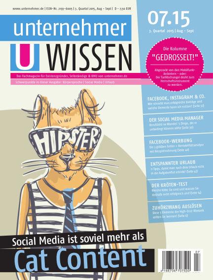 unternehmer.de ePaper August 18, 2015 00:00