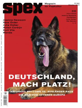 SPEX — Magazin für Popkultur - eingestellt Spex Nr. 364