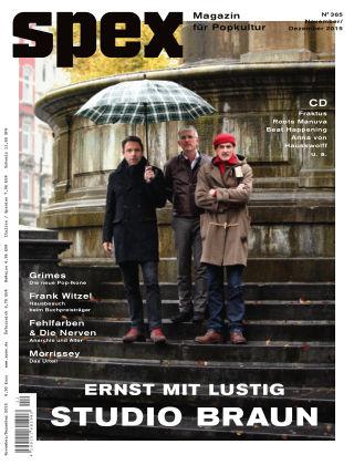 SPEX — Magazin für Popkultur - eingestellt Spex Nr. 365