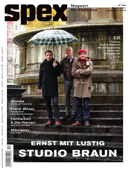 SPEX — Magazin für Popkultur (eingestellt) October 30, 2015 00:00
