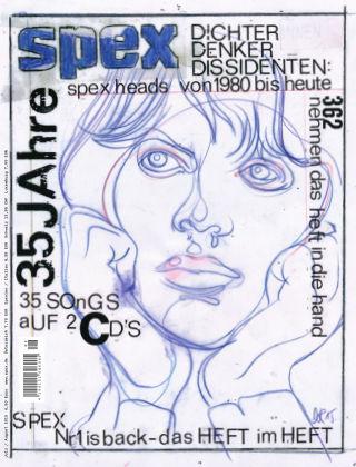 SPEX — Magazin für Popkultur - eingestellt Spex Nr. 362