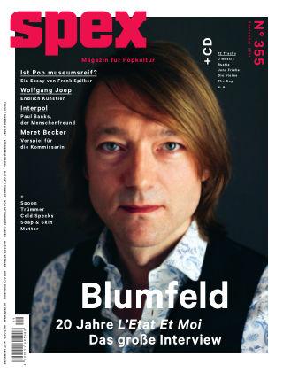 SPEX — Magazin für Popkultur Spex Nr. 355