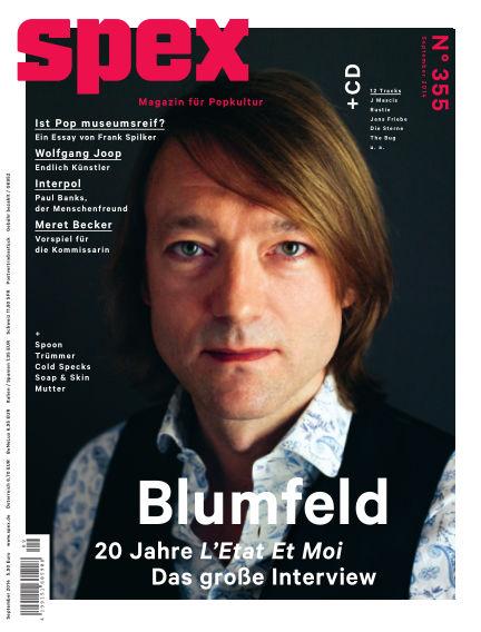 SPEX — Magazin für Popkultur (eingestellt) August 07, 2014 00:00