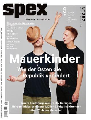 SPEX — Magazin für Popkultur - eingestellt Spex Nr. 357