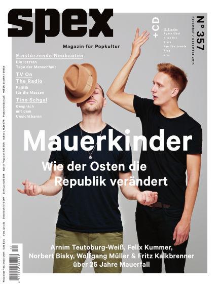 SPEX — Magazin für Popkultur (eingestellt) October 30, 2014 00:00